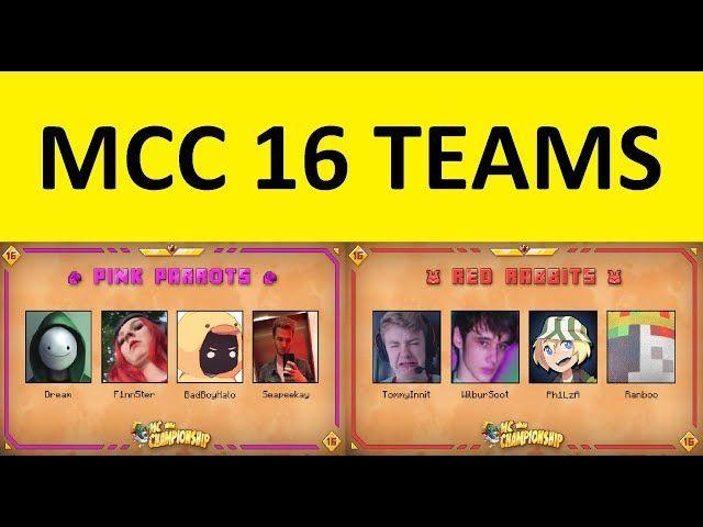 Minecraft Championship (MCC)16: Squadre annunciate, minigiochi, dove guardare e altro